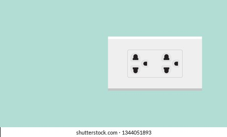 three eye plug vector. wallpaper. free space for text. copy space.