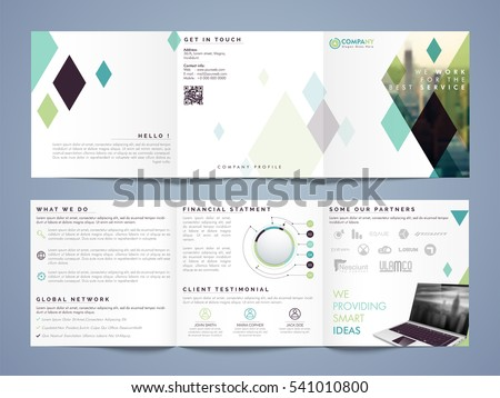 three fold business flyer banner pamphlet stock vector royalty free