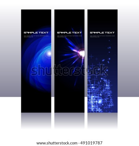 Three futuristic design template bunting stock vector royalty free three futuristic design template bunting maxwellsz