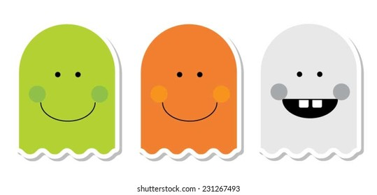 Three ghost icons