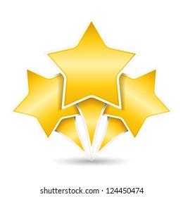 Three golden stars, design elements for your logo, vector eps10 illustration