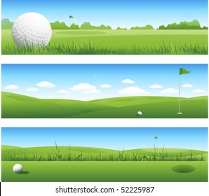 Three golf backgrounds