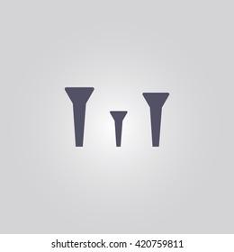 three golf tees icon