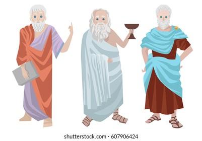 three great greek philosophers