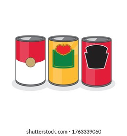 Three Iconic Cans on a White Background