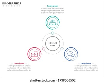 Three infographics element. Vector illustration. Vector business template for presentation. Timeline with 3 option.  Vector Infographic label design template with icons and 3 options or steps.