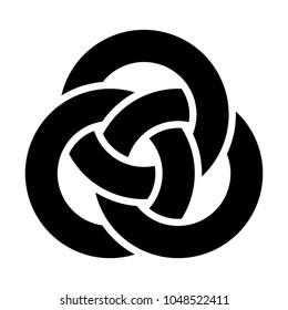 Three interlocked circles logo