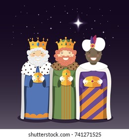 The Three Kings with christmas star