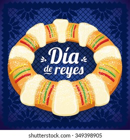 Three Kings Day - Copy Space - Rosca de Reyes Mexicana