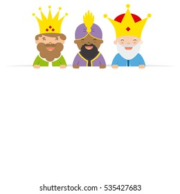 three kings of orient. blank space