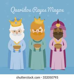 the three kings of orient on a blue background