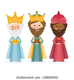 the three kings of orient on a white background