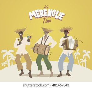 Three latin musicians playing latin music: merengue, salsa, bachata...