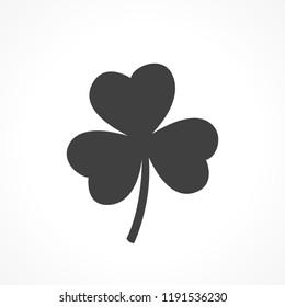Three leaf black illustration