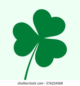 Three leaf clover icon. St. Patrick's day symbol. Vector illustration, eps 8.