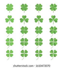three leaves, four leaves, clover, green, stem