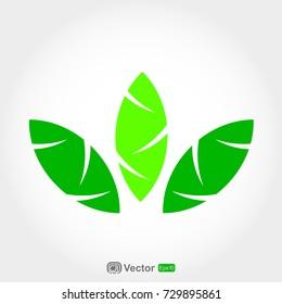 three leaves logo template