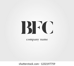 Three letters BFC Joint logo icon vector element.