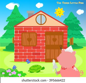 The three little pigs bricks house finished
