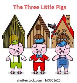 The Three Little Pigs. fairytale