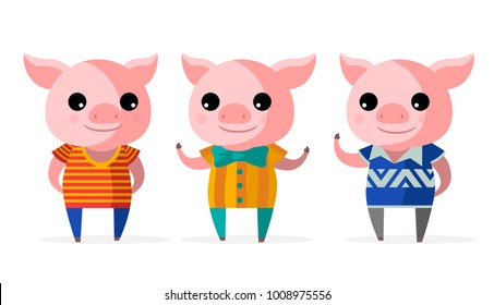 three little pigs fantasy tale