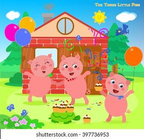 the three little pigs folktale happy ending