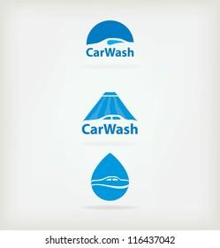 Three logo for car wash