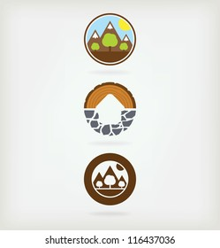 Three logo for eco-friendly products