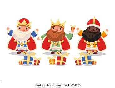 The Three Magi at Christmas.