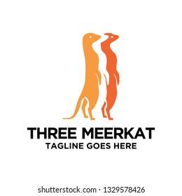 three meerkat logo design inspiration