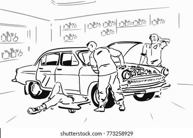 Car Mechanic Cartoon Images Stock Photos Amp Vectors