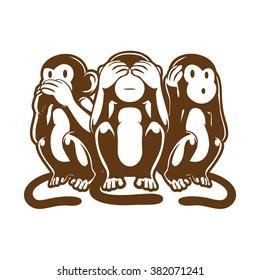 Three Monkey, Speak, See, Hear No evil.