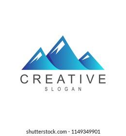 three mountain logo design