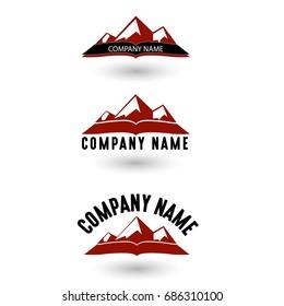 Three Mountain Logo, Vector, Illustration, EPS File