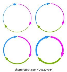 Three part arrow circles