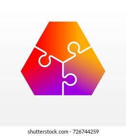 Images Photos Et Images Vectorielles De Stock De 3 Puzzle Pieces