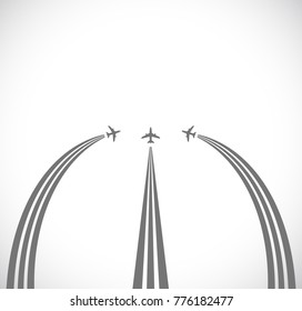 three plane abstract background