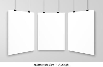 Three poster mockup