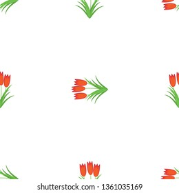 Three red flowers in one bouquet. Seamless Wallpaper pattern.