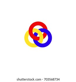 three ring logo vector