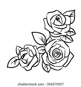 rose line art images stock photos vectors shutterstock rh shutterstock com rose line art vector rose line art tattoo