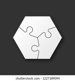 three piece flat puzzle images stock photos vectors shutterstock
