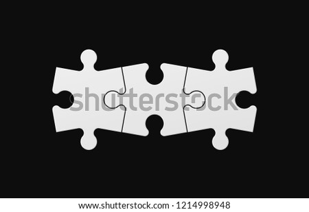 three sided square puzzle presentation abstract stock vector