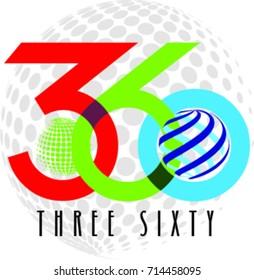 Three Sixty logo Vector