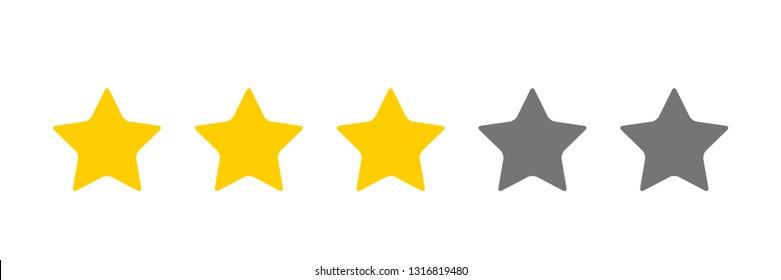 three stars icon  Vector