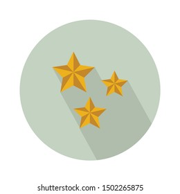 three stars icon- From web, universal and Miscellaneous Icons set