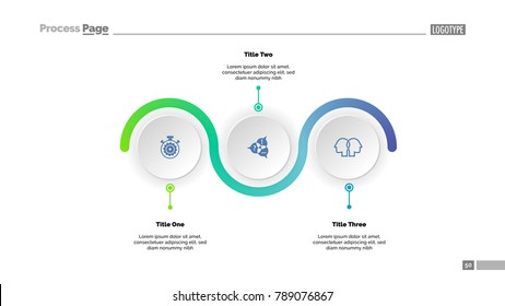 Three Step Process Chart Slide Template