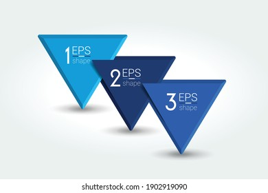 Three steps, parts infographic, chart, diagram. Vector.