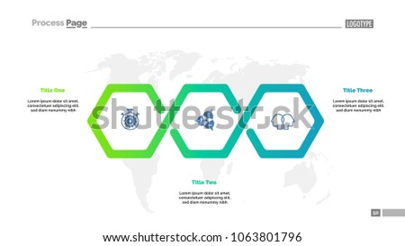 Three Steps Workflow Process Chart Template Stock Vector Royalty - Workflow process template