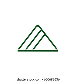 three triangle high rise design logo vector